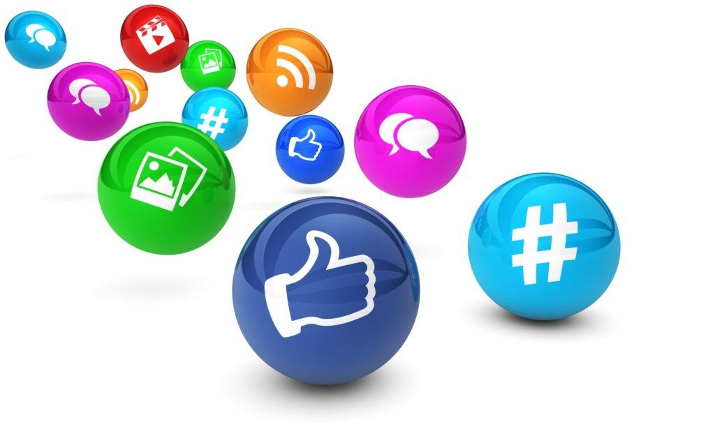 social media marketing buttons